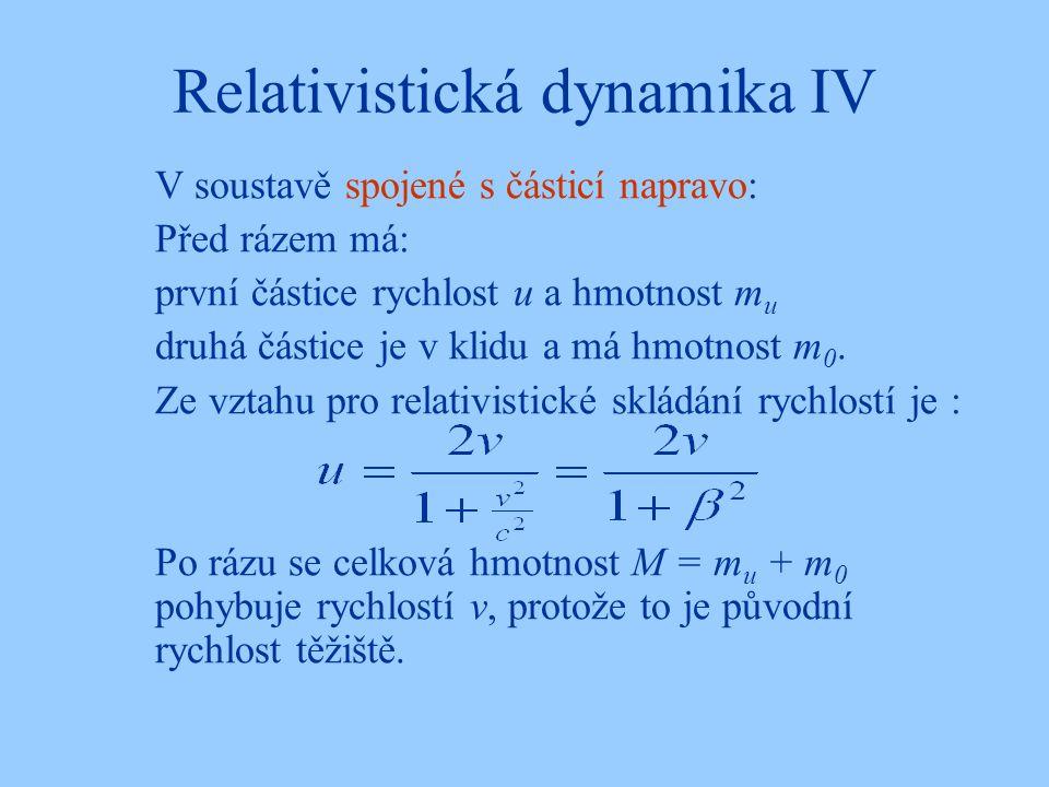 Relativistická dynamika IV