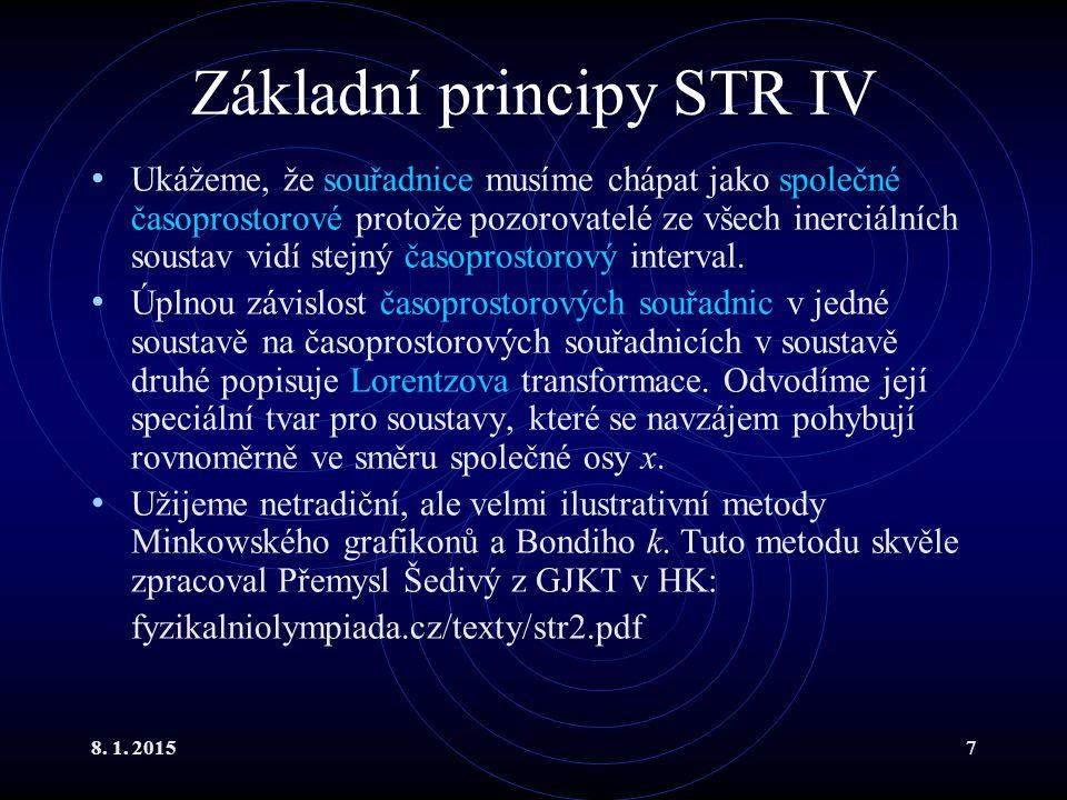 Základní principy STR IV