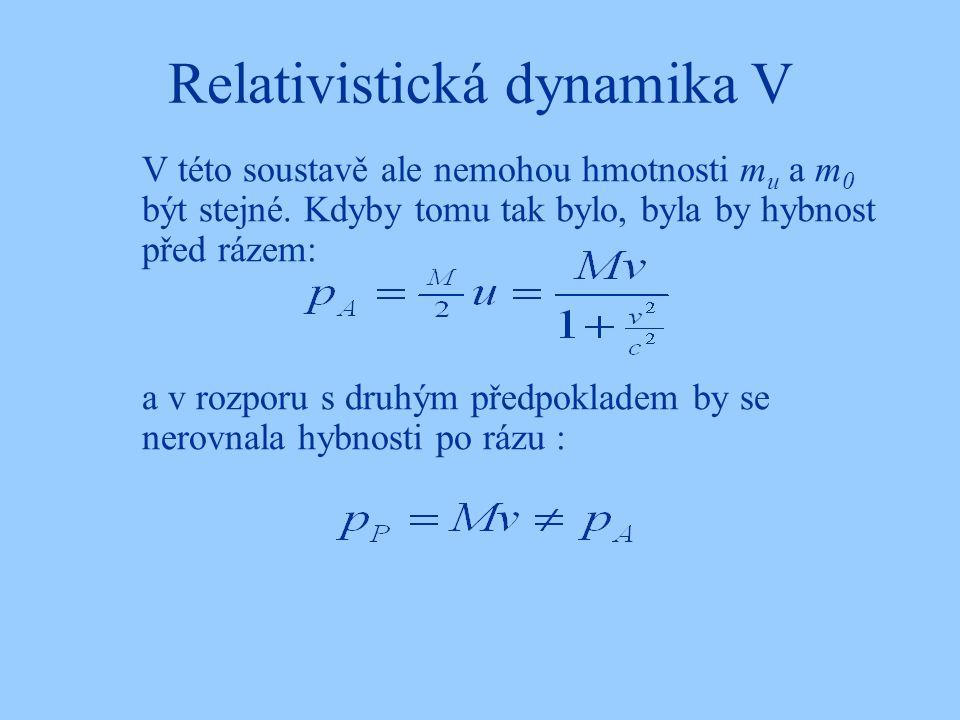 Relativistická dynamika V