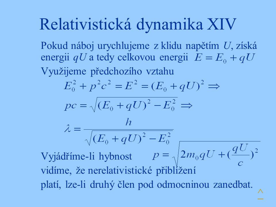 Relativistická dynamika XIV