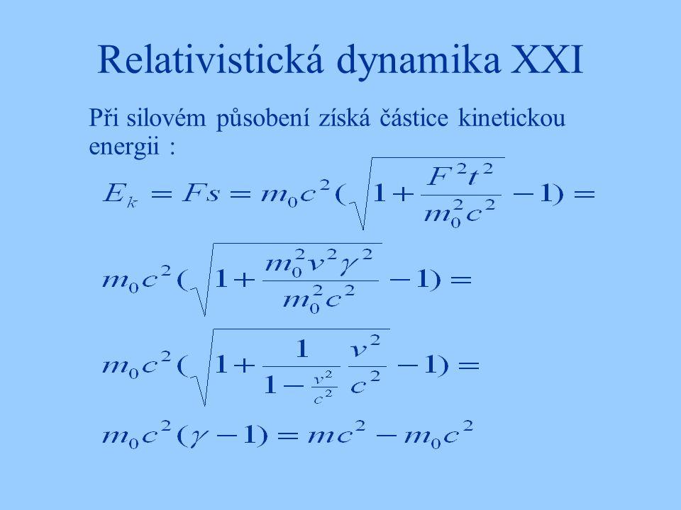Relativistická dynamika XXI