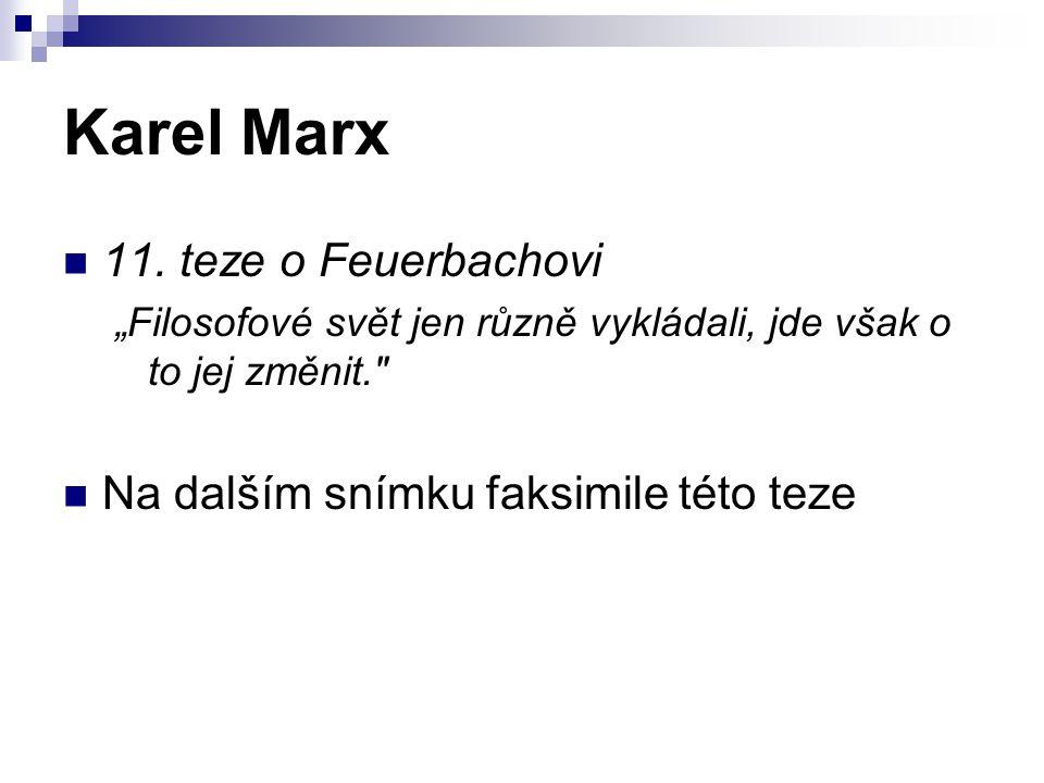 Karel Marx 11. teze o Feuerbachovi