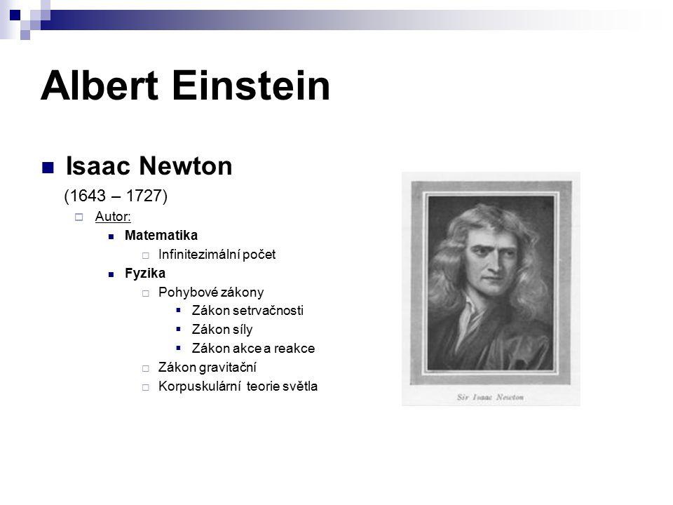 Albert Einstein Isaac Newton (1643 – 1727) Autor: Matematika