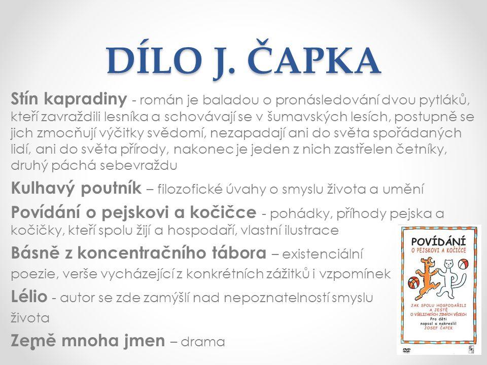 DÍLO J. ČAPKA