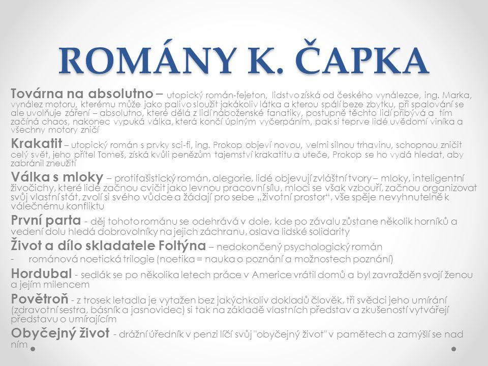 ROMÁNY K. ČAPKA