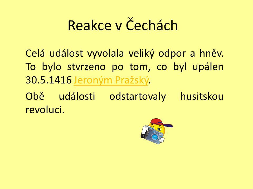 Reakce v Čechách