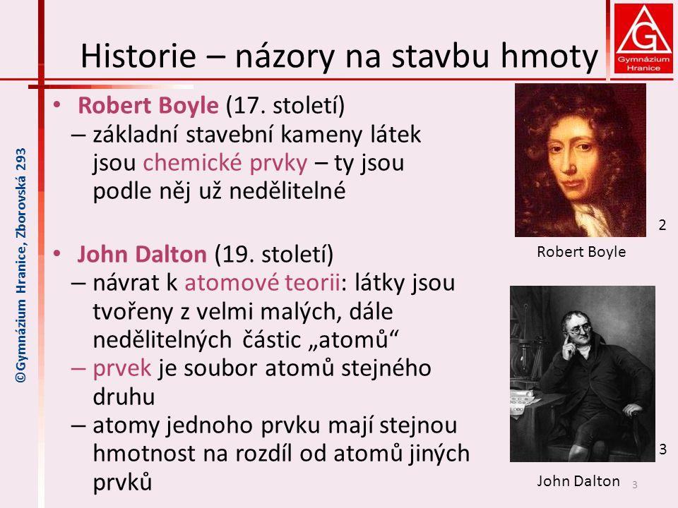 Historie – názory na stavbu hmoty