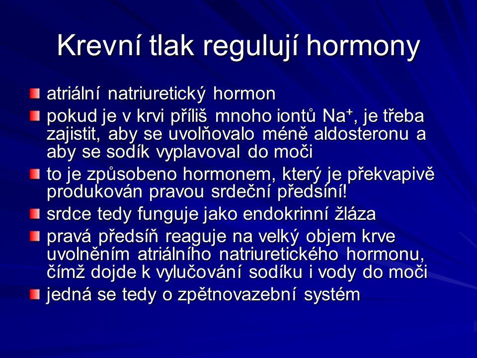 Krevní tlak regulují hormony