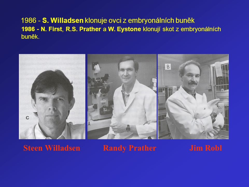Steen Willadsen Randy Prather Jim Robl