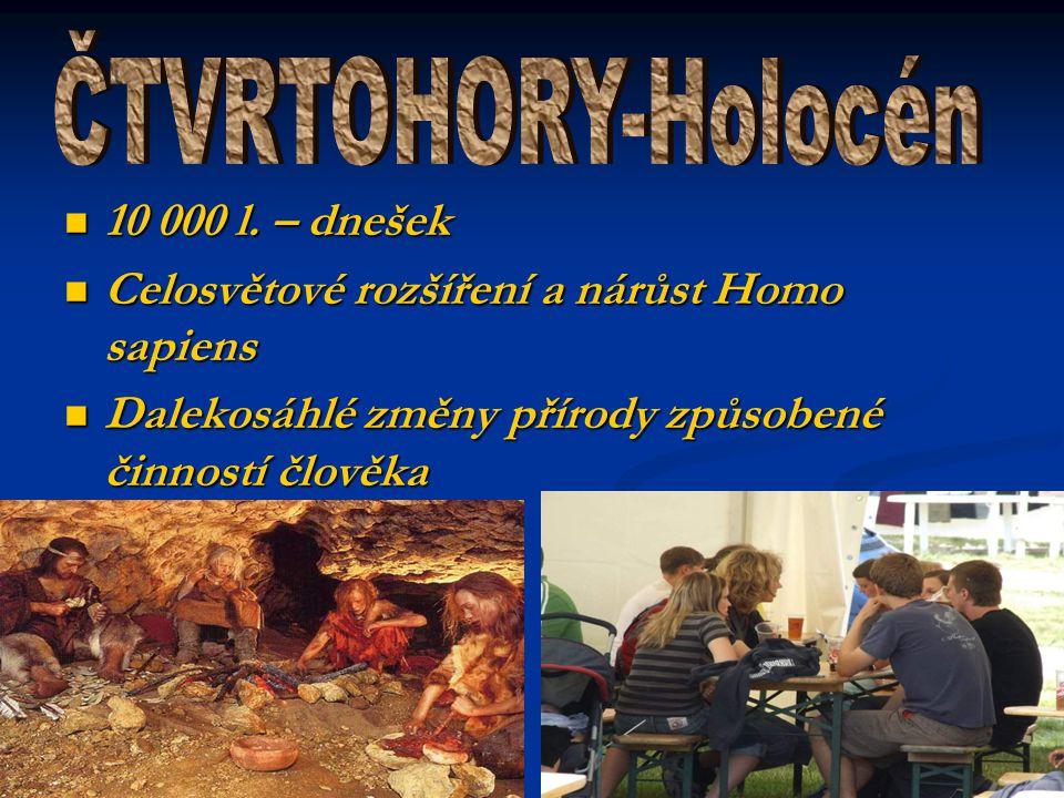 ČTVRTOHORY-Holocén 10 000 l. – dnešek
