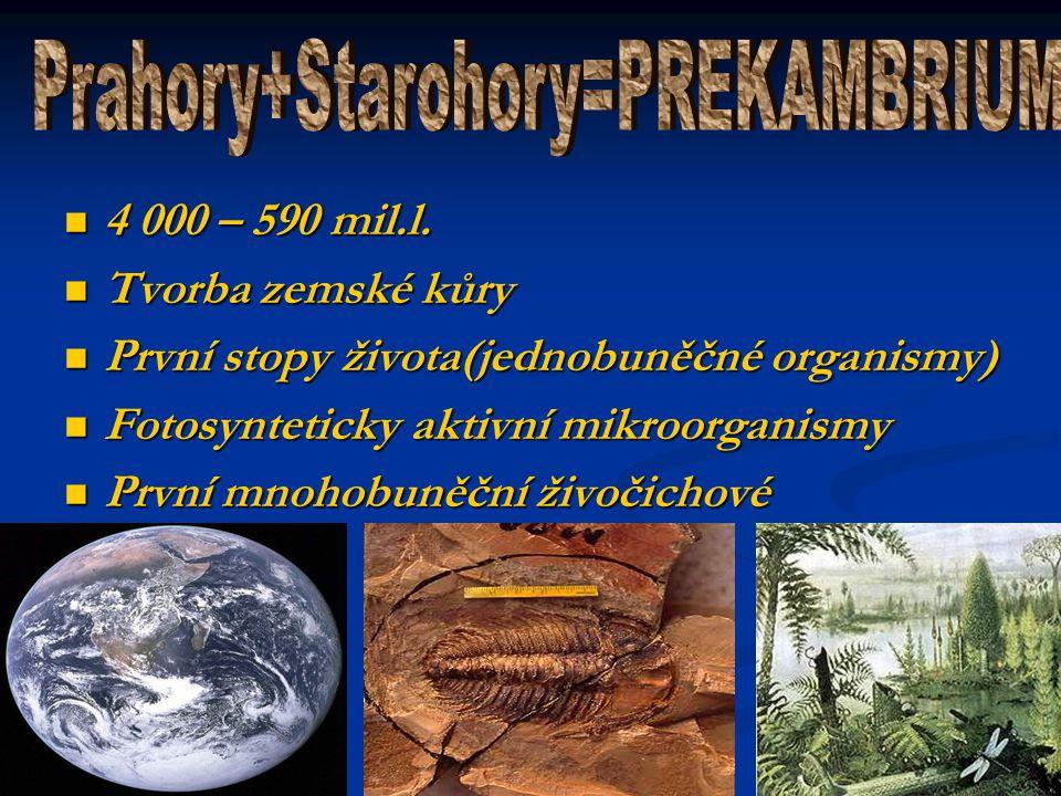 Prahory+Starohory=PREKAMBRIUM