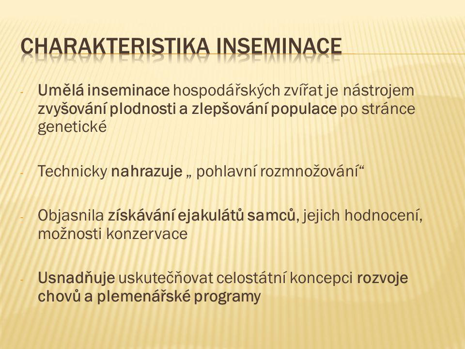Charakteristika inseminace