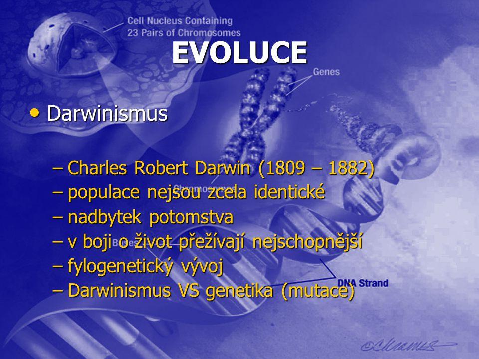 EVOLUCE Darwinismus Charles Robert Darwin (1809 – 1882)