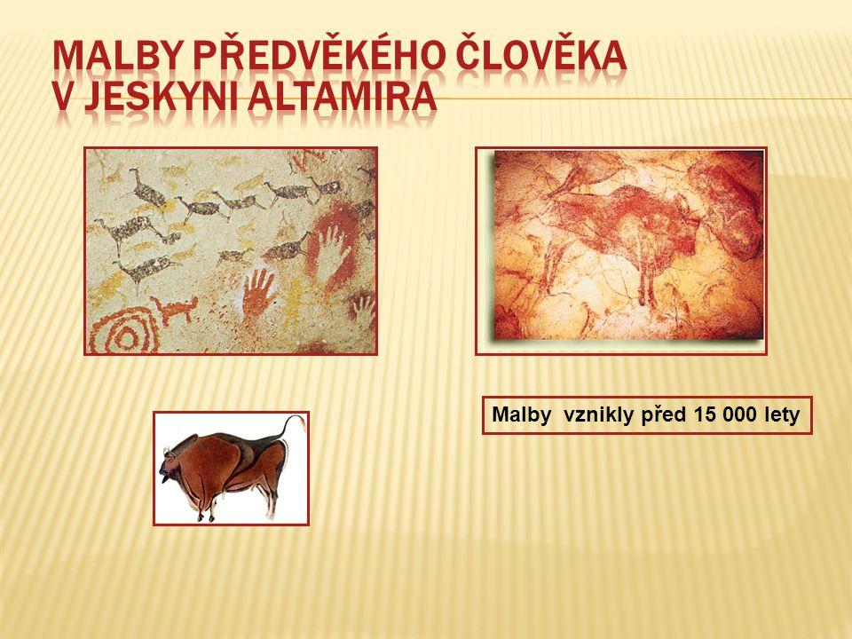 Malby předvěkého člověka v jeskyni Altamira