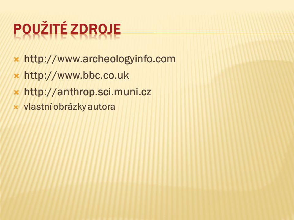 Použité zdroje http://www.archeologyinfo.com http://www.bbc.co.uk