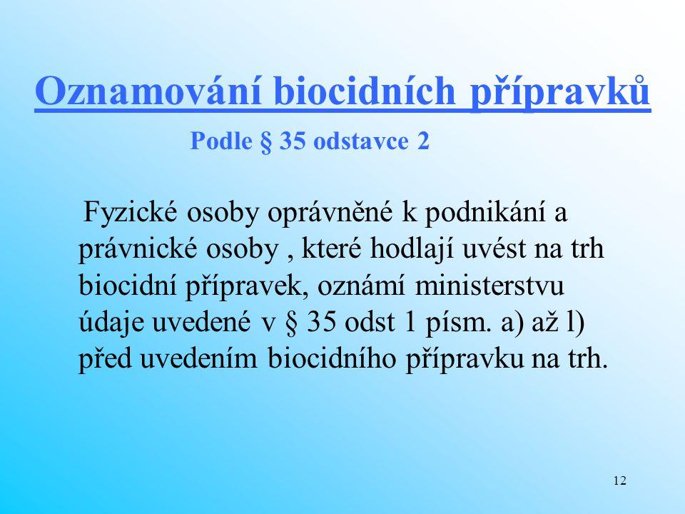 Oznamování biocidních přípravků