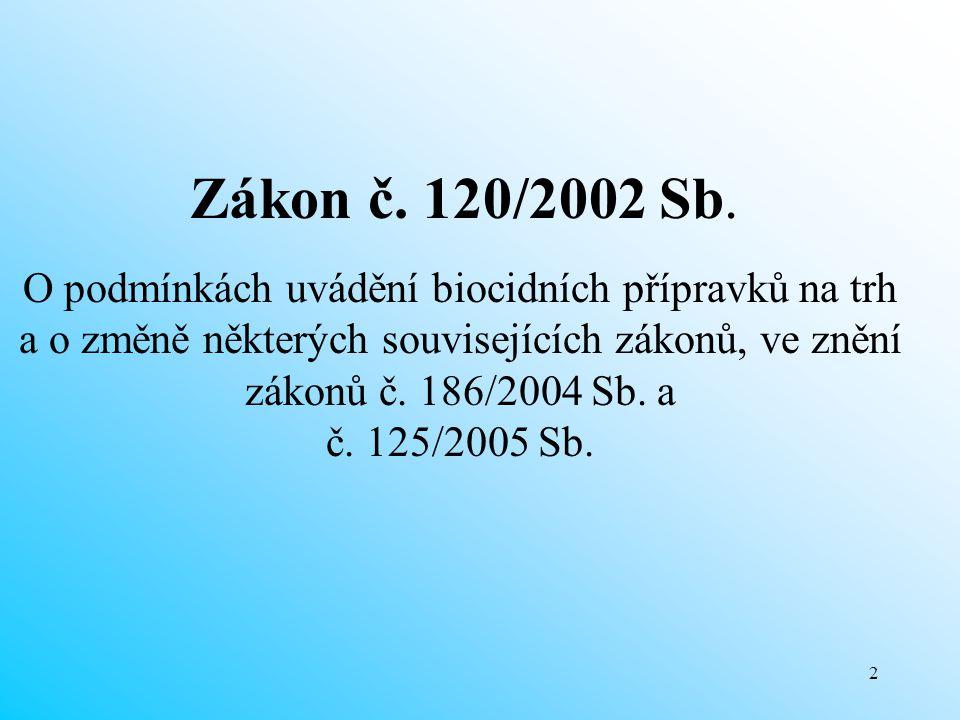 Zákon č. 120/2002 Sb.
