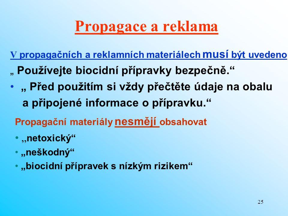 """Propagace a reklama """" Používejte biocidní přípravky bezpečně."""