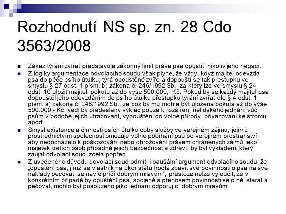 Rozhodnutí NS sp. zn. 28 Cdo 3563/2008