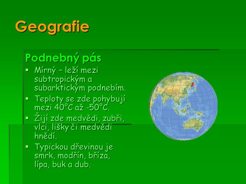 Geografie Podnebný pás