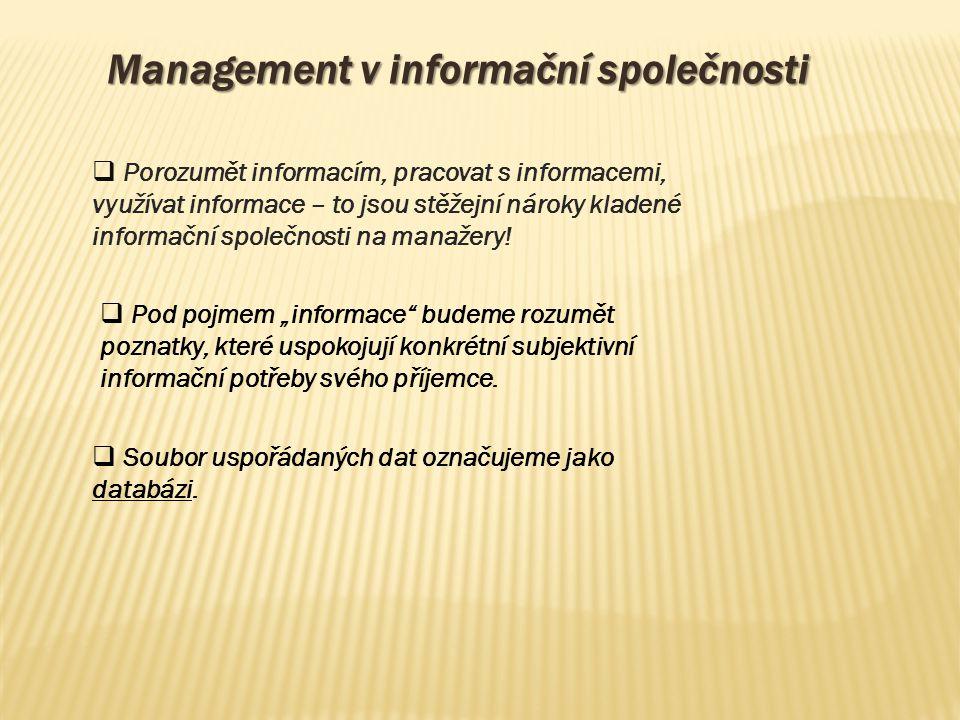 Management v informační společnosti
