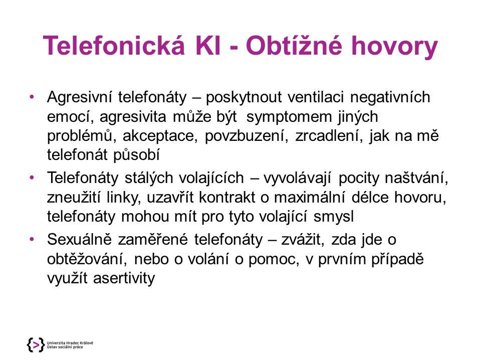 Telefonická KI - Obtížné hovory