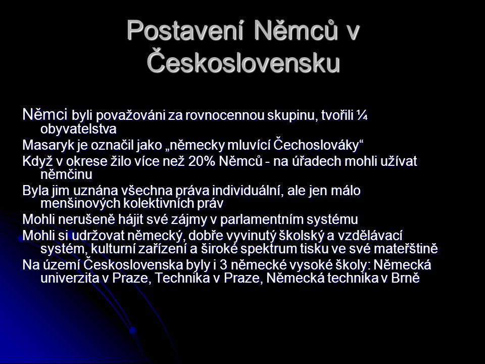 Postavení Němců v Československu