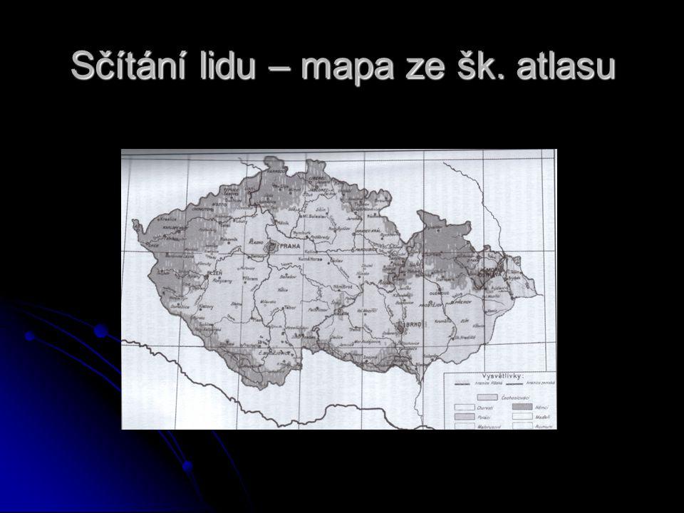 Sčítání lidu – mapa ze šk. atlasu