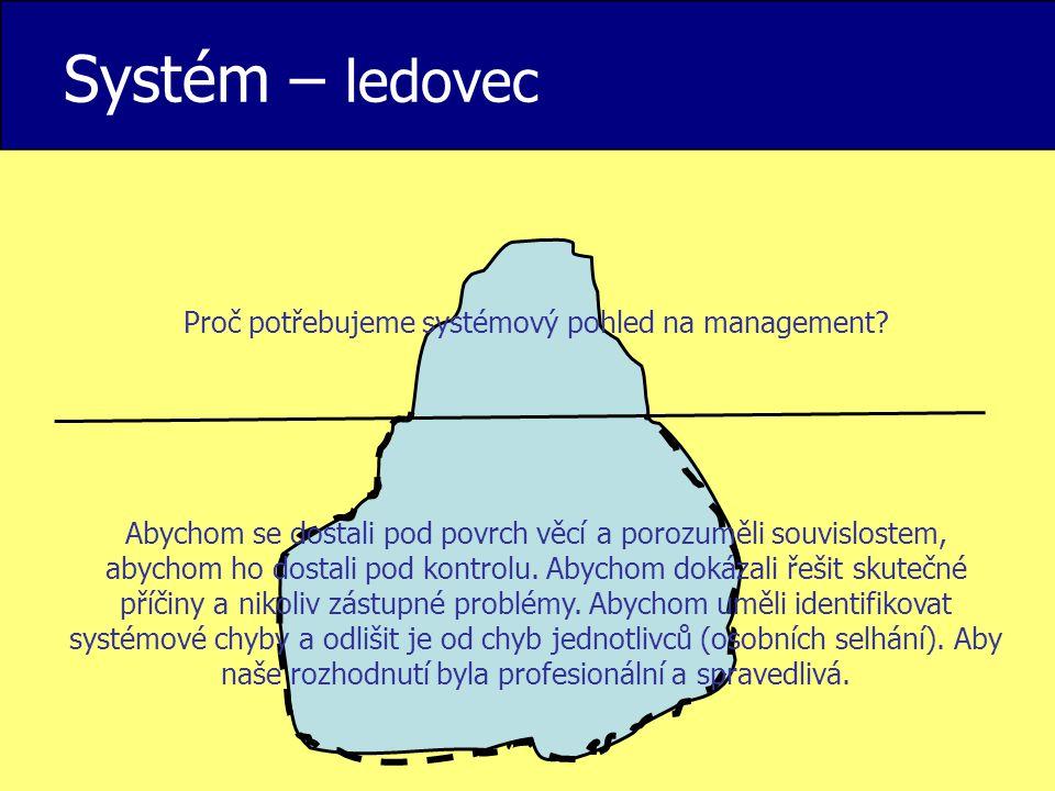 Proč potřebujeme systémový pohled na management