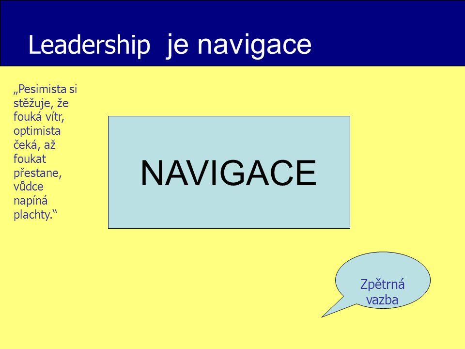 Leadership je navigace