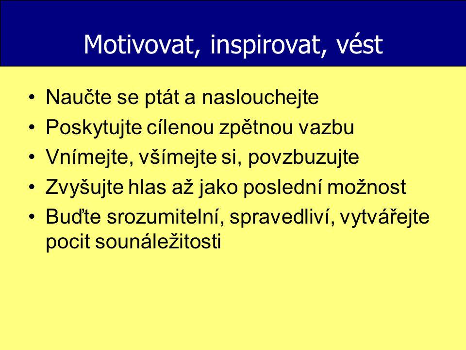 Motivovat, inspirovat, vést
