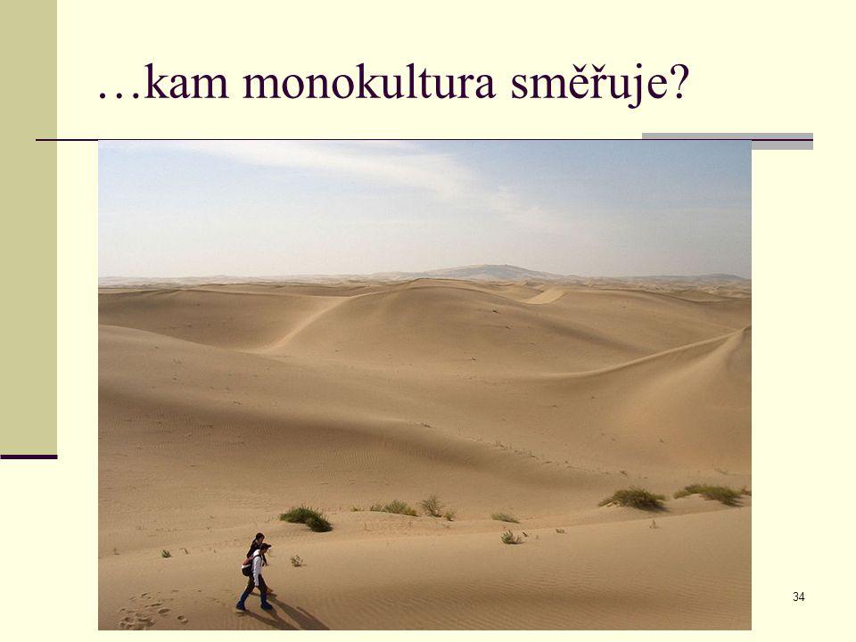 …kam monokultura směřuje