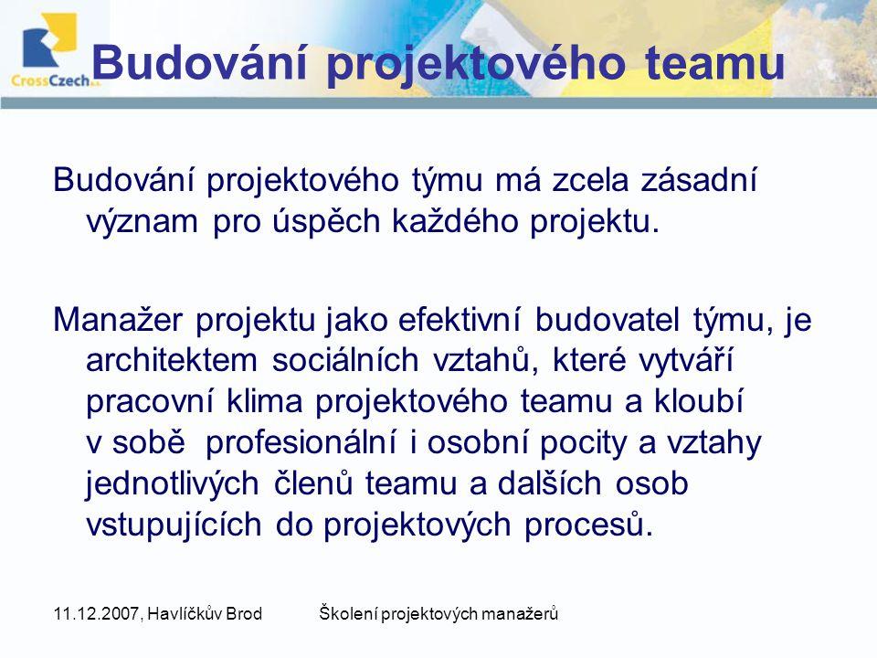 Budování projektového teamu