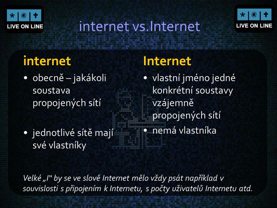 internet vs.Internet internet Internet