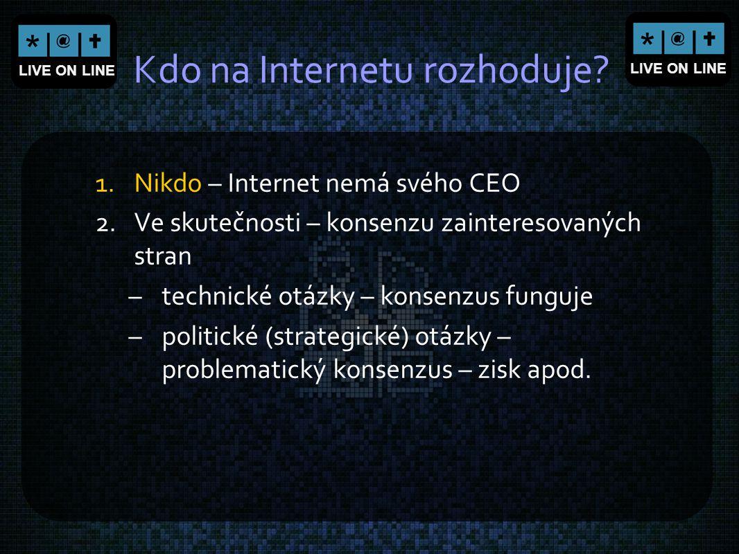 Kdo na Internetu rozhoduje