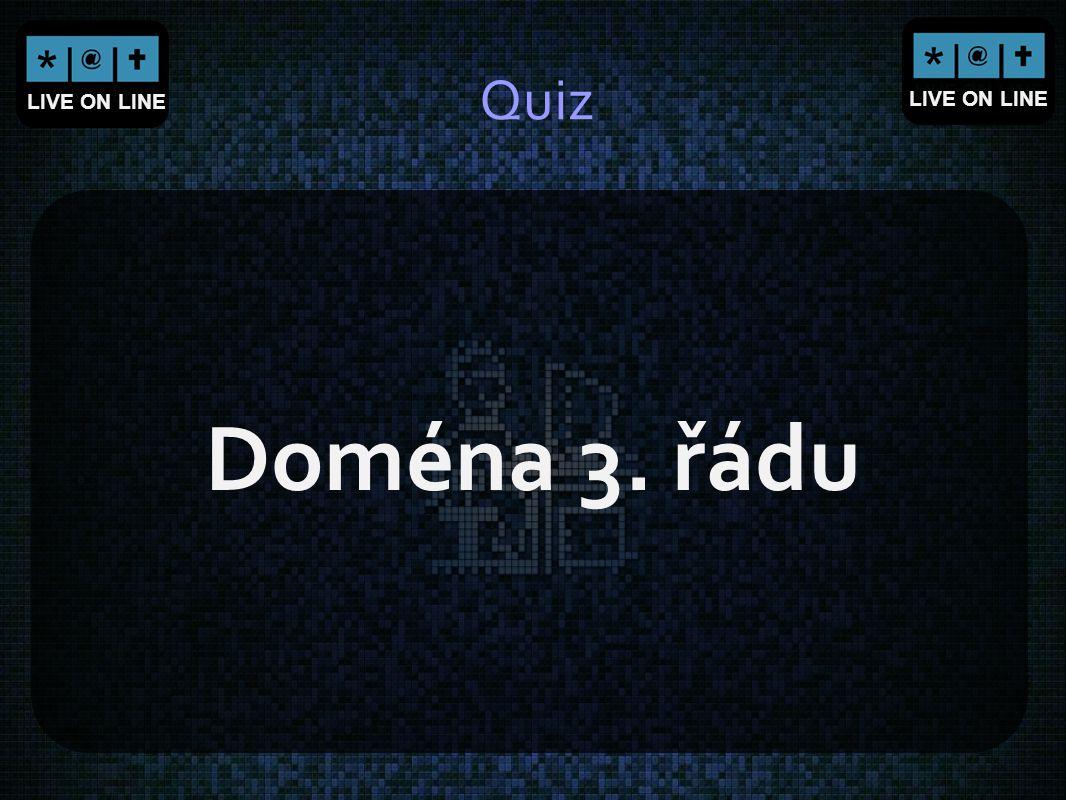 Quiz Doména 3. řádu
