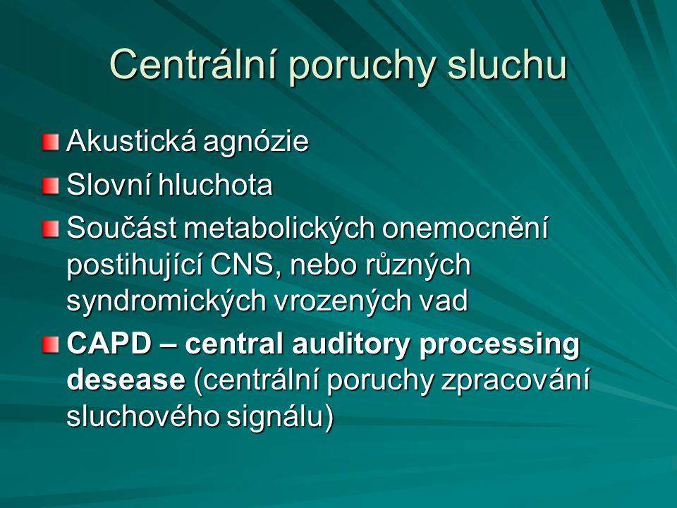 Centrální poruchy sluchu
