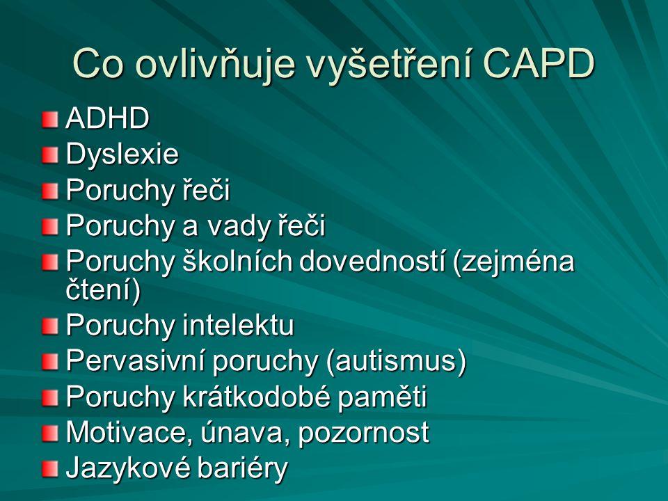 Co ovlivňuje vyšetření CAPD