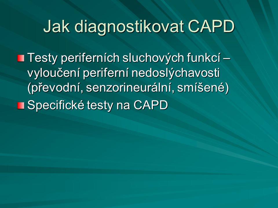 Jak diagnostikovat CAPD