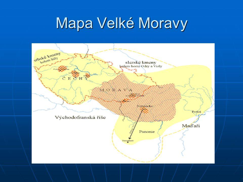 Mapa Velké Moravy