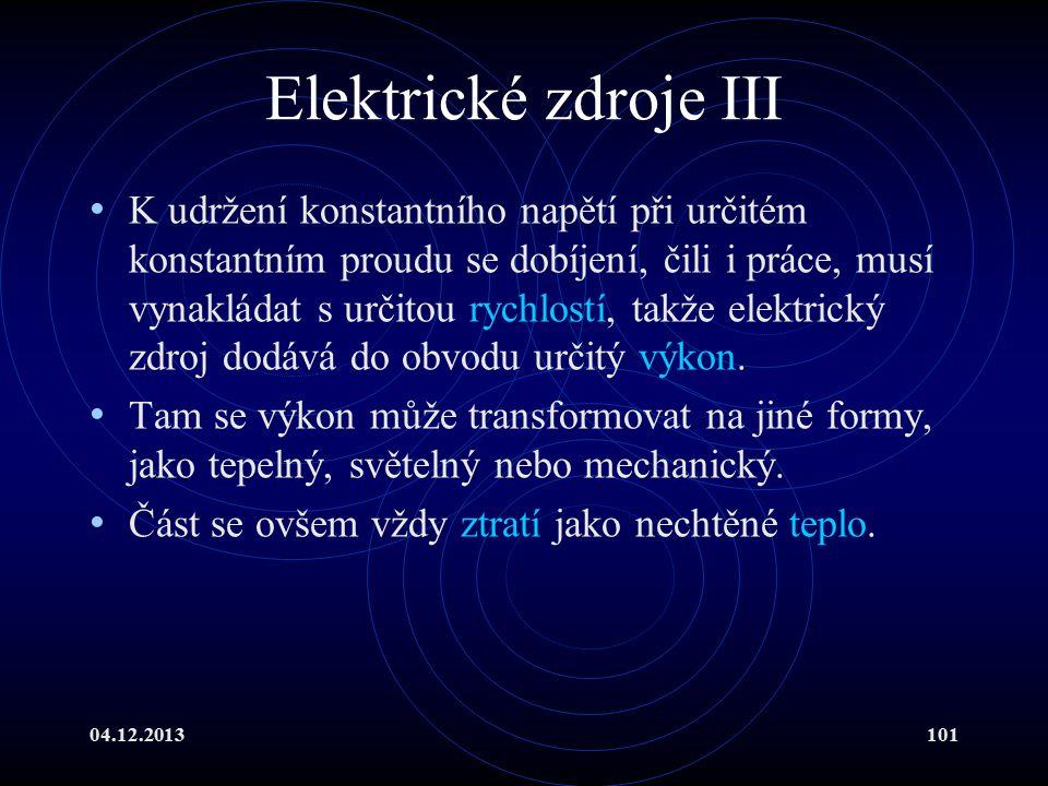 Elektrické zdroje III