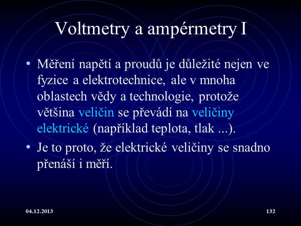 Voltmetry a ampérmetry I