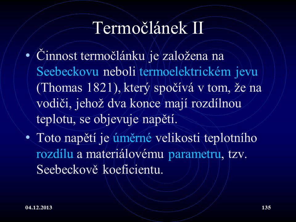 Termočlánek II