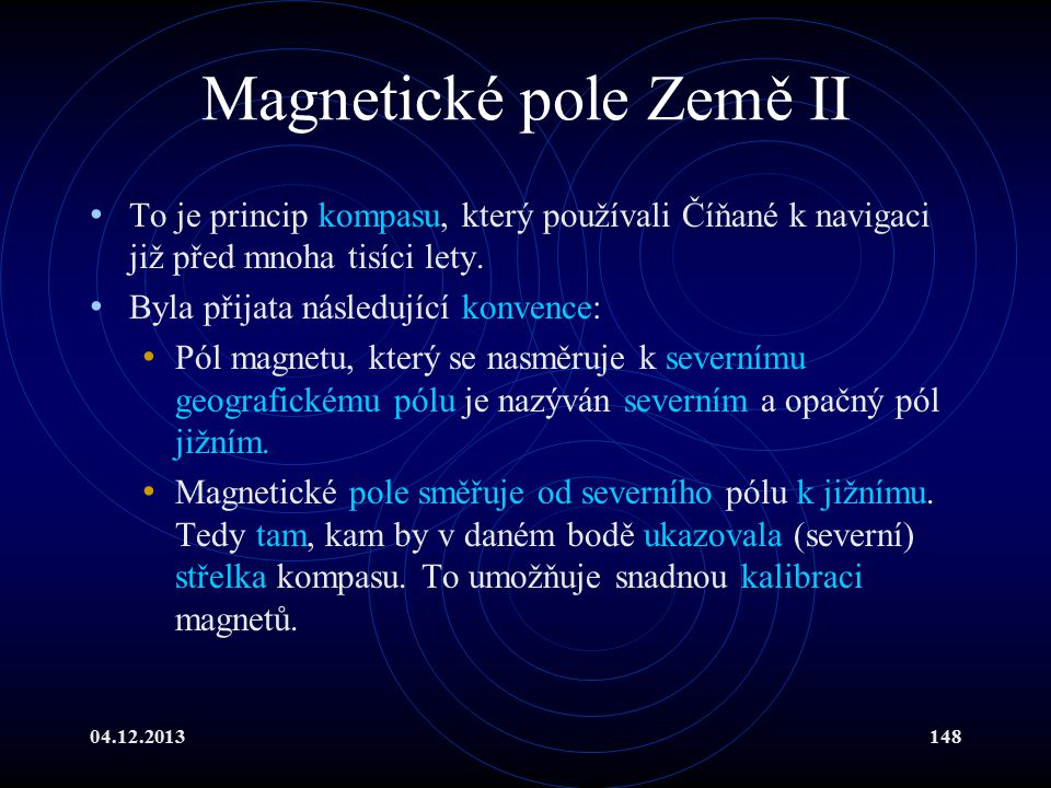 Magnetické pole Země II
