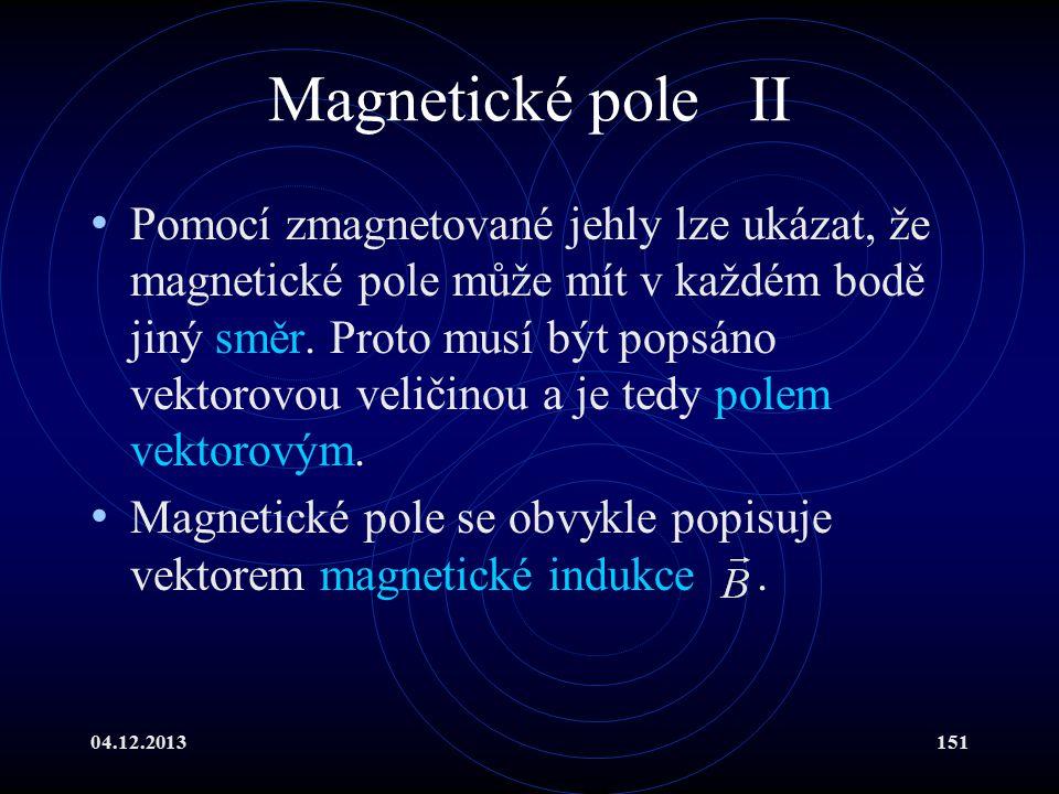 Magnetické pole II