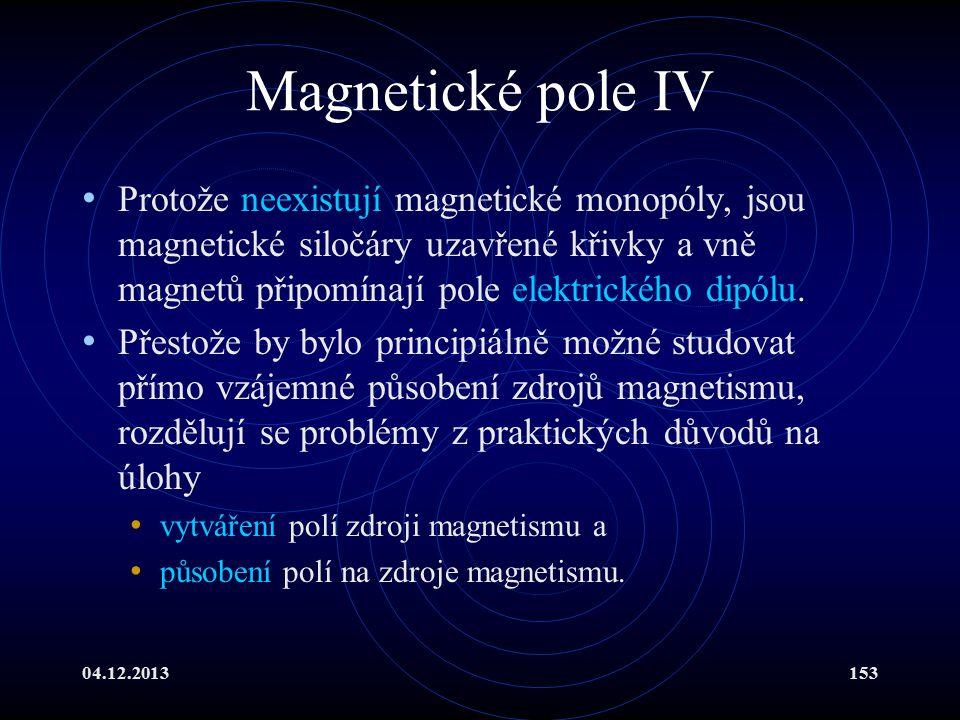 Magnetické pole IV