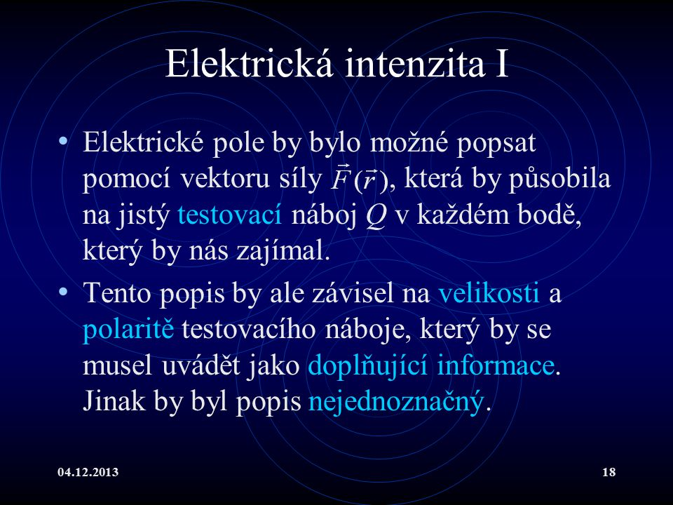 Elektrická intenzita I
