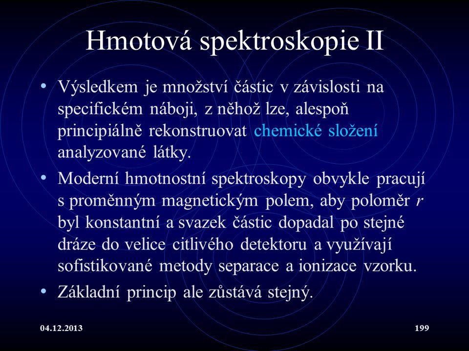 Hmotová spektroskopie II