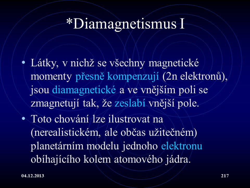*Diamagnetismus I