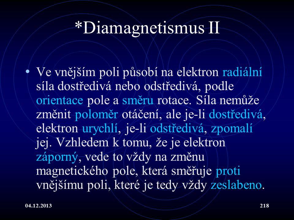 *Diamagnetismus II